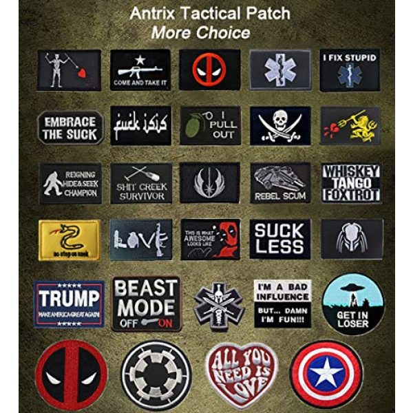 TOWEE Airsoft Patch 4 US Flag Patches, TOWEE 6 Pack American Flag USA Flags Punisher Patches Tactical Tags Patch Military Patch Embroidered Border America Military Uniform Emblem Morale Patches