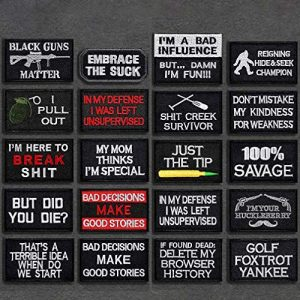 JUSHOOR Airsoft Patch 1 20 Pack Tactical Morale Patches with Velcro
