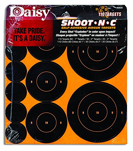 Daisy Airsoft Target 1 Daisy Shoot-N-C Self-Adhesive Airgun Targets