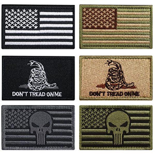 CREATRILL Airsoft Patch 1 Bundle 6 Pieces Tactical Military Morale Patch Set (A)