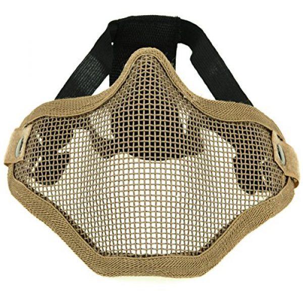 ArcEnCiel Airsoft Mask 2 ArcEnCiel Tactical Airsoft Steel Metal Mesh Half Face Mask