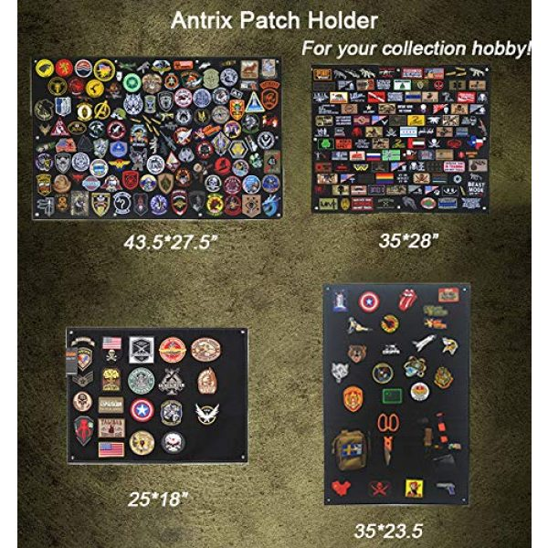 Antrix Airsoft Patch 7 Antrix 8 Pack Great Value Black Military Tactical Morale Patch US Flag Punisher Molon Labe Dont Tread On Me in God We Trust Patches Set