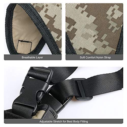 TW TWOD  4 Twod Shoulder Holster Ambidextrous Vertical Concealed Carry Shoulder Holster with Dual Magazine Holder Fits Most Pistols or Handgun