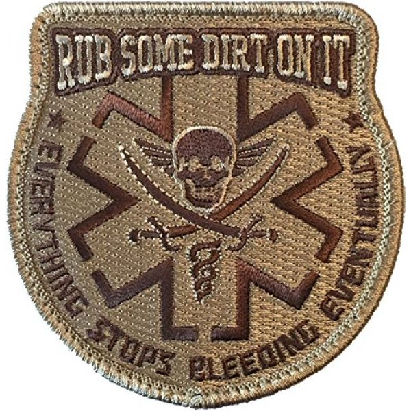 F-Bomb Morale Gear Airsoft Patch 1 Rub Some Dirt On It Medic, EMS, EMT, Paramedic - Embroidered Morale Patch
