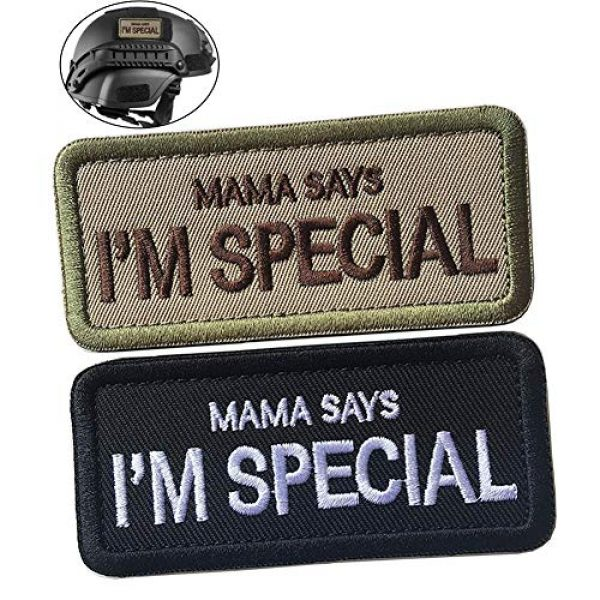 WindCar Airsoft Morale Patch 1 WindCar Tactical Morale Military Patches 2 pcs Funny Emblem Badge Mama Says I'm Special (2 pcs - Mama Says I'm Special)