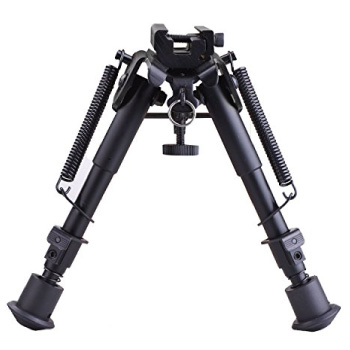 CVLIFE 6-9 Inches Tactical Airsoft Sniper Rifle Bipod Adjustable Spring Return with Adapter