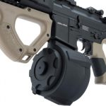 Evike Airsoft ASG Hera Arms Licensed CQR M4 Airsoft AEG by ICS Left Side Drum Magazine