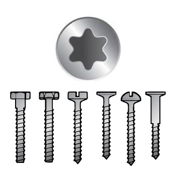 Star Key Head Screws in Airsoft Guns