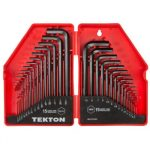 TEKTON Hex Key Wrench Set 30-Piece (.028-3/8 inch 0.7-10 mm) | 25253 Best Airsoft Gun Tool Allen Key Set