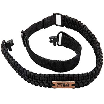 TLO Outdoors Paracord Gun Sling Adjustable 2-Point Paracord Sling with Swivels for Airsoft Sniper Rifles