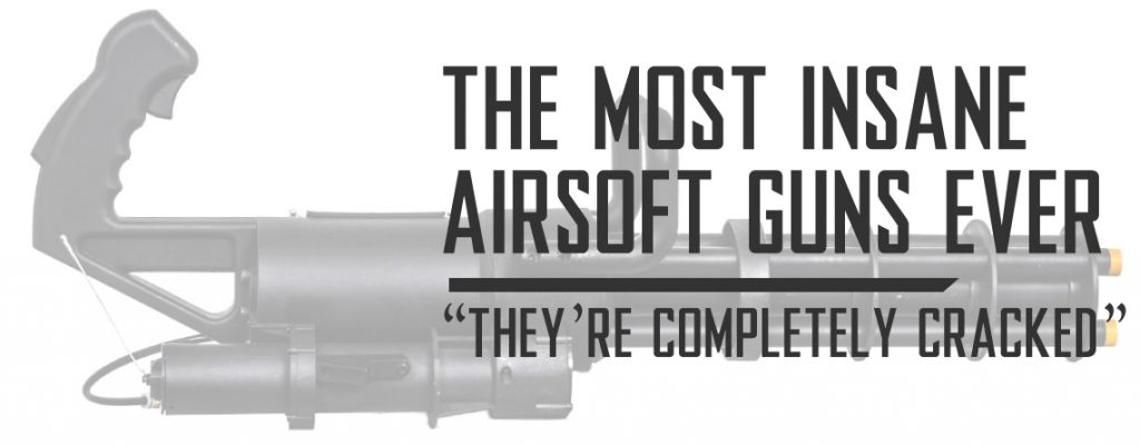 The Most Insanely Expensive and Coolest Airsoft Guns Ever EMG M1919, Classic Army GL M132 Microgun, and Evike Airsoft Guns