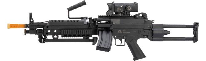 Squad Support Machine Gun Airsoft Guns - Evike Cybergun FN M249 Para Airsoft Gun