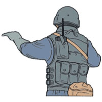 Tactical Hand Signal for Adult
