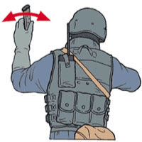 Tactical Hand Signal for Ammo