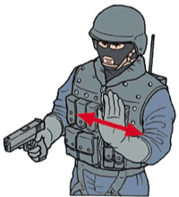 Tactical Hand Signal for Disregard