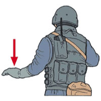 Tactical Hand Signal for Down