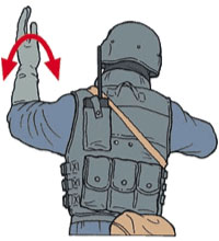 Tactical Hand Signal for File