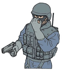 Tactical Hand Signal for Gas