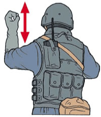 Tactical Hand Signal for Hurry