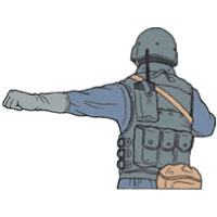 Tactical Hand Signal for Line