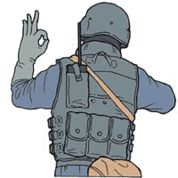 Tactical Hand Signal for Message