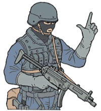 Tactical Hand Signal for Pistol
