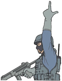 Tactical Hand Signal for Rifle