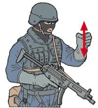 Tactical Hand Signal for Shotgun