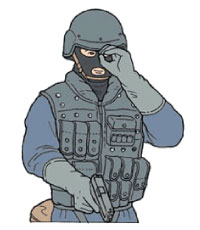 Tactical Hand Signal for Sniper