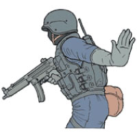 Tactical Hand Signal for Stop