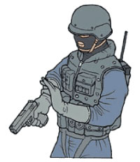 Tactical Hand Signal for Suspect