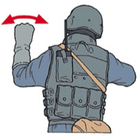 Tactical Hand Signal for Vehicle