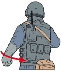 Tactical Hand Signal for Wedge