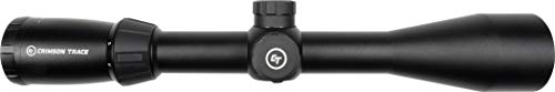 Crimson Trace Rifle Scope 3 Crimson Trace 3-9x40mm 1 Series Mid-Range Sport Riflescope with SFP, Duplex Reticle and Scope Rings for Hunting, Shooting and Outdoor