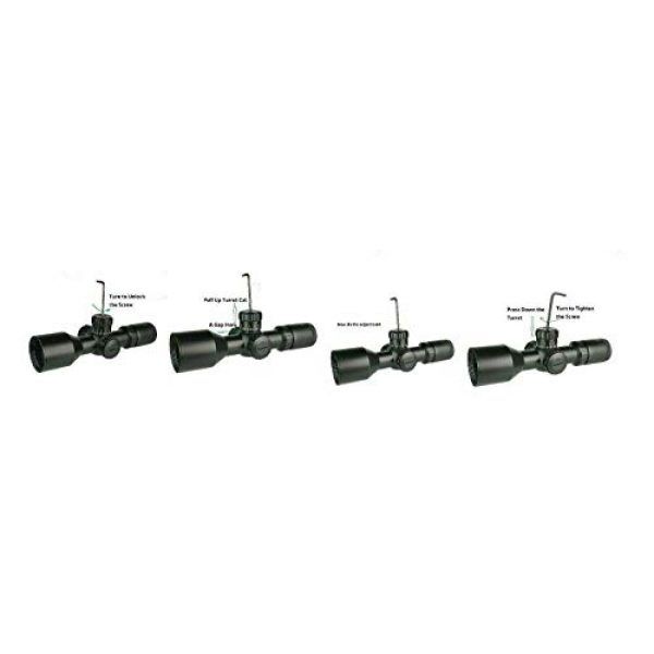 DB TAC INC Rifle Scope 4 DB TAC INC Compact 3-9x42 Red and Green Color Illuminated Scope Come with Rings