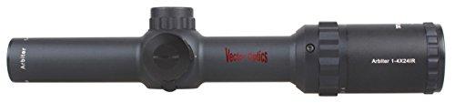 TAC Vector Optics Rifle Scope 2 TAC Vector Optics Arbiter 1-4x24 SFP Hunting Riflescope Scope with Flip-up Caps Mount Rings
