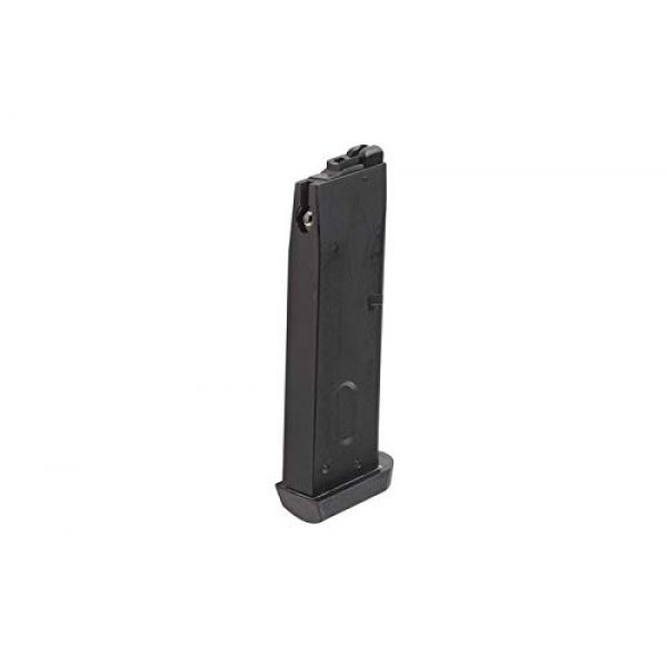 BULLDOG AIRSOFT Airsoft Pistol Magazine for SR92 GBB 3 SR92 Airsoft Gas Magazine GBB Gas Blowback - Black - 25 Rounds - for M9 Series