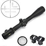 TOTEN Rifle Scope 1 TOTEN Rifle Scope 10-40X56 Gun Scope with 11mm Dovetail Mounting Rings and Honeycomb Sunshade for Viewing