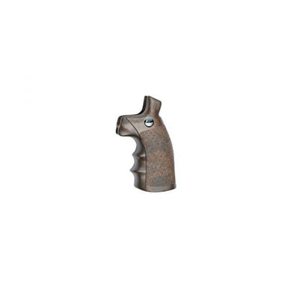 Dan Wesson Airsoft ASG Wood Revolver Grip 1 Dan Wesson ASG Licensed Wood Style Revolver Grip for 4.5mm Airgun Pistols and 6mm Airsoft Guns - Wood Color (17455)