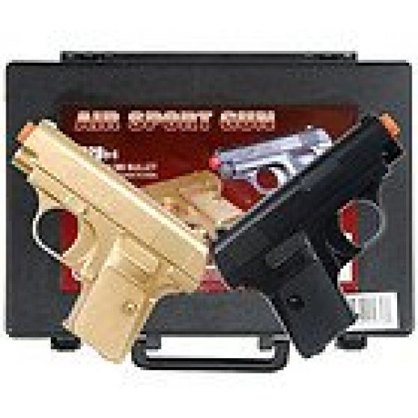 Platnium Sales Airsoft Pistol 2 double eagle twin p328 spring pocket pistols airsoft guns black and gold(Airsoft Gun)