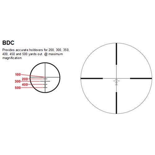 Sniper Rifle Scope 4 Sniper PM4X32SB 4X Magnified Optic with Illuminated BDC Reticle - Rifle Scope