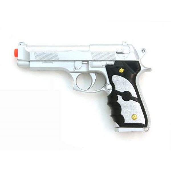 UKARMS Airsoft Pistol 1 silver airsoft spring pistol m757s 1/1 full scale 200 fps(Airsoft Gun)