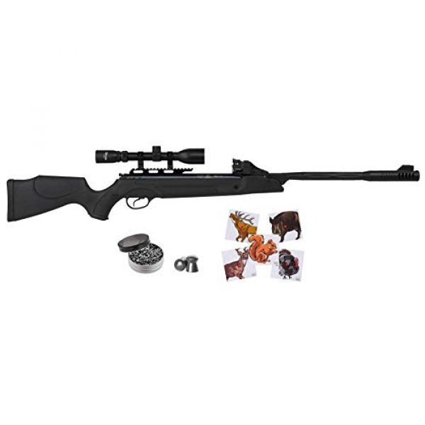 Wearable4U Air Rifle 1 Hatsan SpeedFire Air Rifle, Black with Included Wearable4U 100x Paper Targets and Lead Pellets Bundle