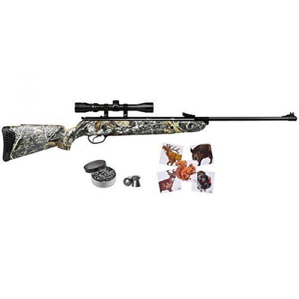 Wearable4U Air Rifle 1 Hatsan Mod 85 Spring Camo Combo Air Rifle with Wearable4U 100x Paper Targets and Lead Pellets Bundle