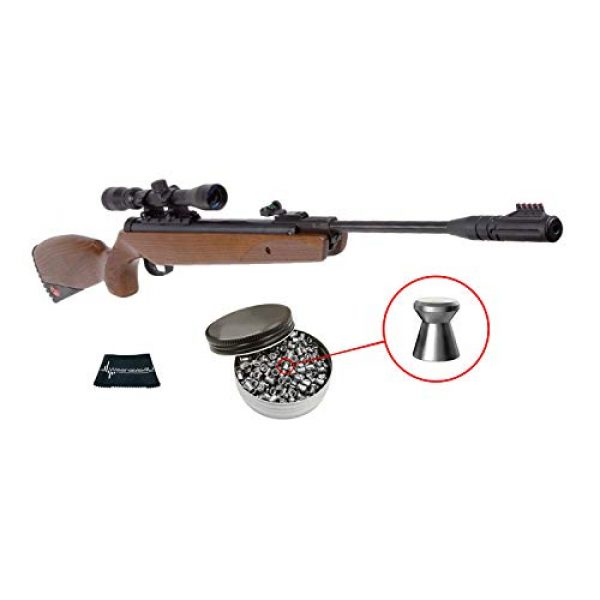 RUGER Air Rifle 1 Ruger Yukon Magnum Combo .177 Caliber Air Rifle with Included 3-9X32 Scope and Pack of 500 Pellets Bundle (Pellets Caliber/Weight .177/7.48 Grains) and Wearable4U Cloth