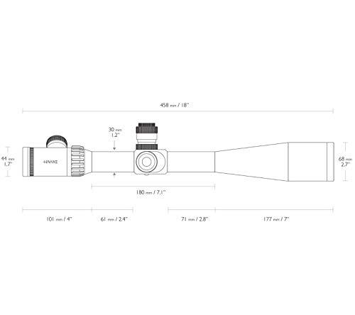 Hawke Rifle Scope 6 Hawke Sidewinder ED SF IR Riflescope 30m