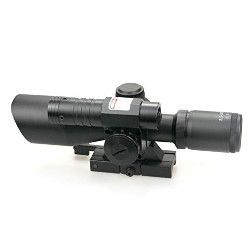DJym Rifle Scope 3 DJym 2.5-10X40B/G Sight, Rifle Scope 5 Gear Red and Green Waterproof, Shockproof and Anti-Fog