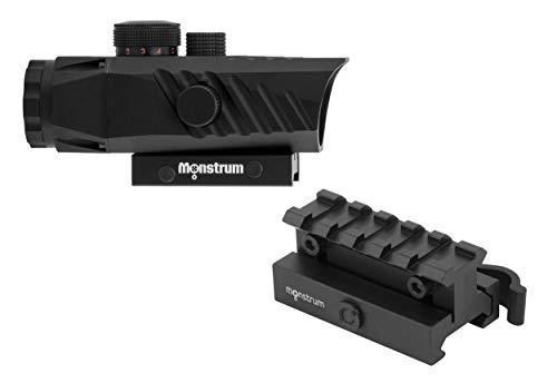 Monstrum Rifle Scope 1 Monstrum P330 Marksman 3X Prism Scope | RM5-AH Adjustable Height Riser Mount with Quick Release | Bundle
