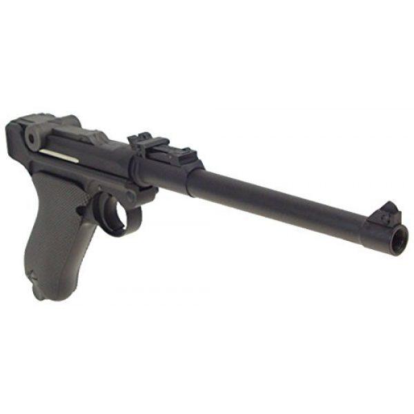 WE Airsoft Pistol 5 WE p-08 long version gas blowback full metal - black(Airsoft Gun)