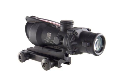 Trijicon Rifle Scope 3 Trijicon ACOG 4 X 32 Scope Dual Illuminated Chevron .223 Ballistic Reticle, Red